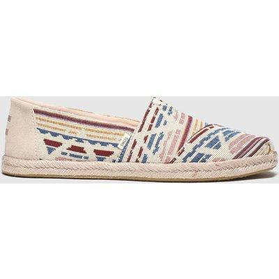 Toms Multi Alpargata Woven Rope Sole Flat Shoes