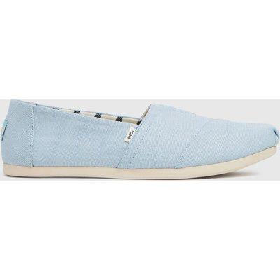 TOMS Pale Blue Alpargata 3.0 Vegan Flat Shoes