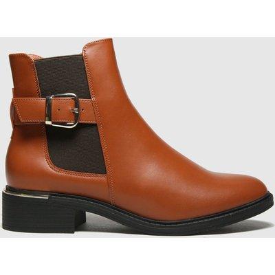 Schuh Tan Caitlin Buckle Detail Chelsea Boots