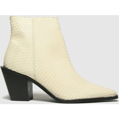 Schuh White Barney Leather Point Boots