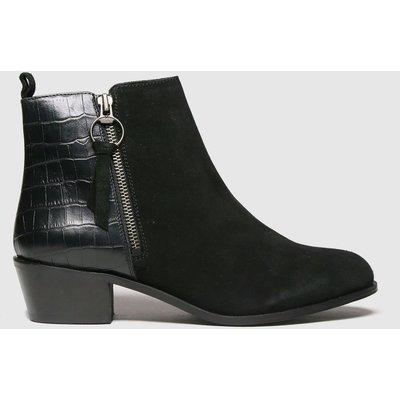 Schuh Black Cara Suede Side Zip Boot Boots