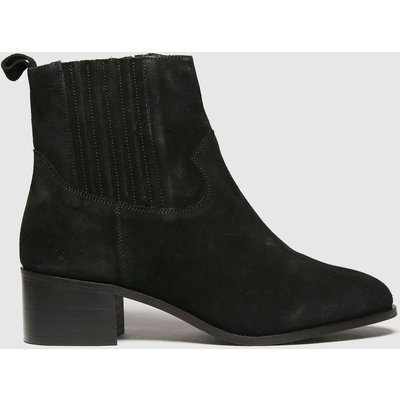 Schuh Black Cheryl Black Suede Block Heel Boots