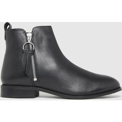Schuh Black Cindy Leather Side Zip Boots