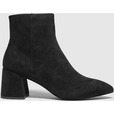 Schuh Black Becky Point Block Heel Boots