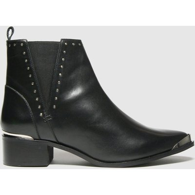Schuh Black Chloe Leather Studded Boots