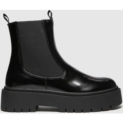 Schuh Black Aaliyah High Shine Chelsea Boots