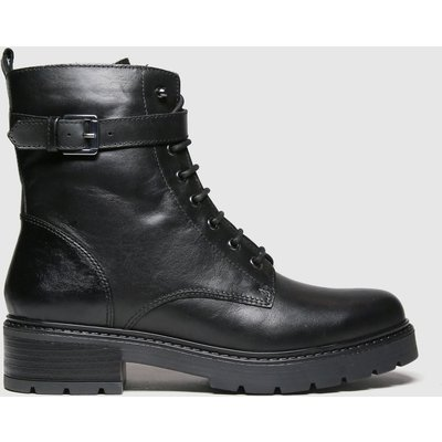 Schuh Black Aria Leather Lace Up Boots