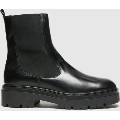 Schuh Black Alexa Leather Cleated Sole Boots