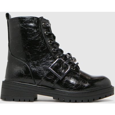 Schuh Black Aspen Chain Lace Up Boots