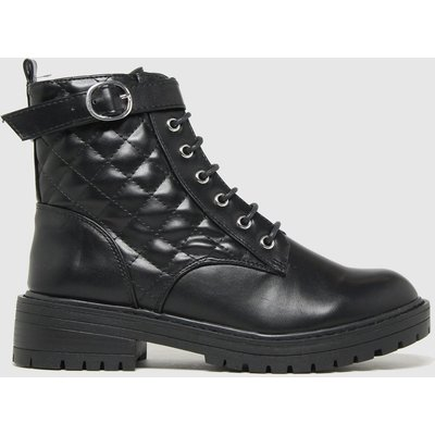 Schuh Black April Lace Up Buckle Boots