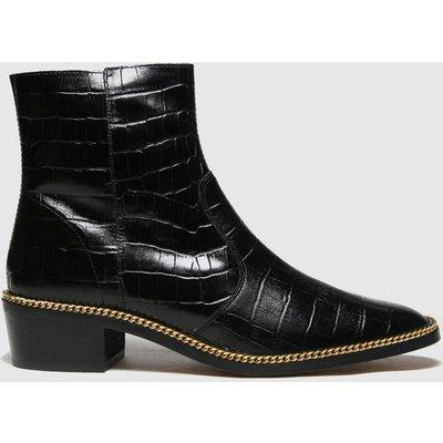 Schuh Black Babs Chain Croc Boots