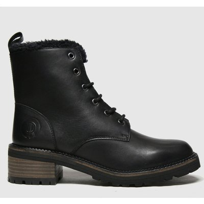 Red Or Dead Black Ruth Leather Lace Up Boots