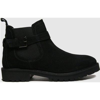 Schuh Black Aysha Suede Buckle Chelsea Boots