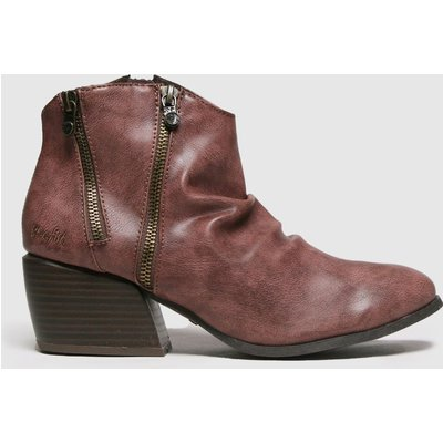 Blowfish Malibu Burgundy Charly Vegan Boots