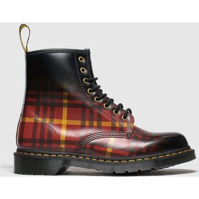 Dr Martens Black & Red 1460 8 Eye Tartan Boots