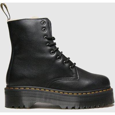 Dr Martens Black Jadon 8 Eye Fur Lined Boots