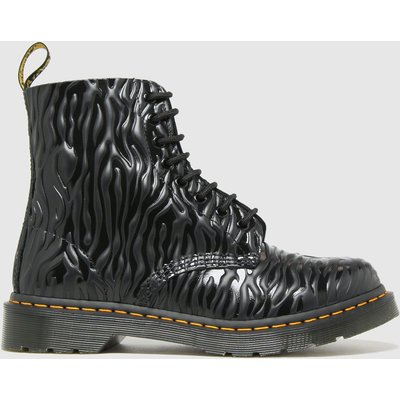 Dr Martens Black 1460 Pascal Zebra Boots