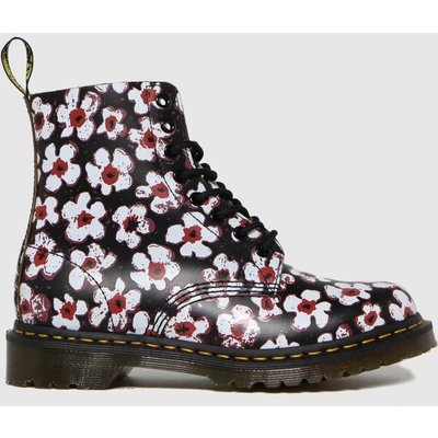 Dr Martens Black & White 1460 Pascal Pansy Fayree Boots