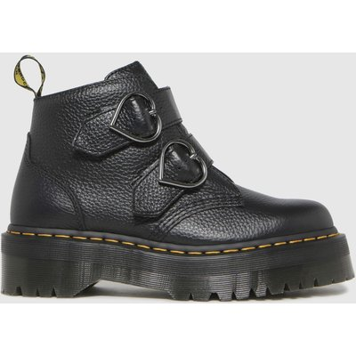 Dr Martens Black Devon Heart Boots