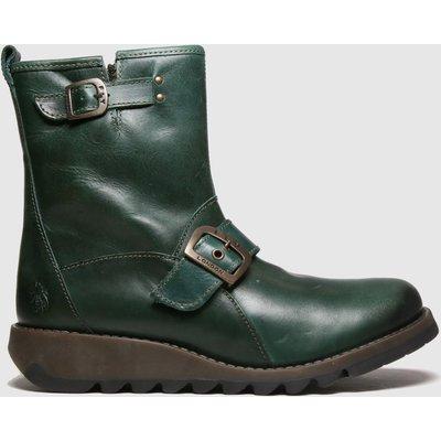 Fly London Dark Green Sino Boots