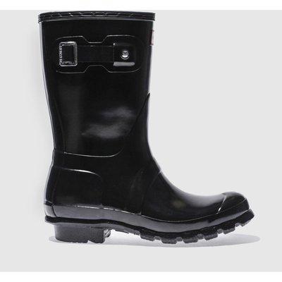 Hunter Black Original Gloss Short Boots
