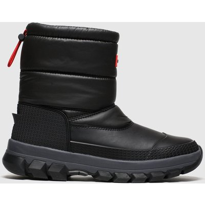 Hunter Black Insulated Snow Boot Short Boots