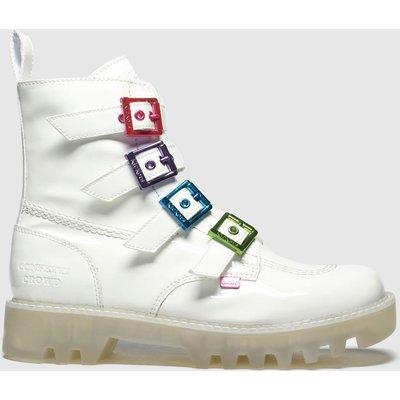 Kickers White Kizzie X Confetti Crowd Boots