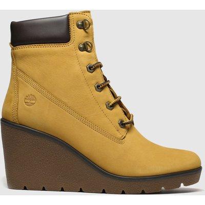 Timberland Tan Paris Height Wedge Boots