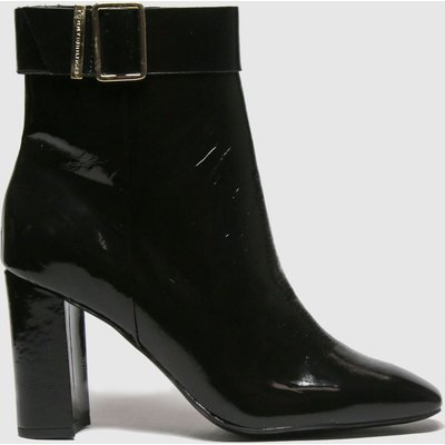 Tommy Hilfiger Black Patent Sqaure Toe Boot Boots