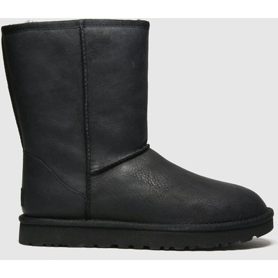 UGG Black Classic Short Ii Leather Boots