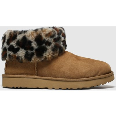 UGG Brown & Black Classic Mini Fluff Boots