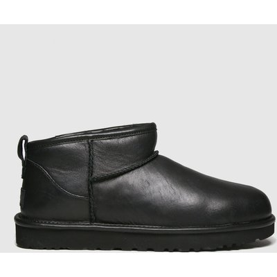 UGG Black Classic Ultra Mini Leather Boots