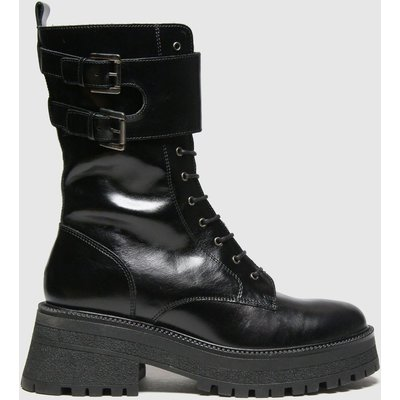 Schuh Black Asher Calf Leather Lace Up Boots