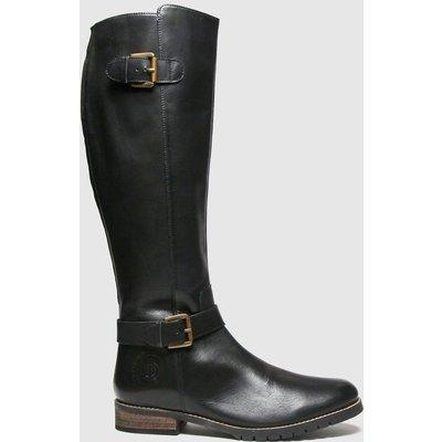 Red Or Dead Black Rod Radley Leather Hi Leg Boots