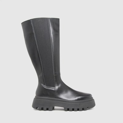 Schuh Black Donni Chunky Knee Boots