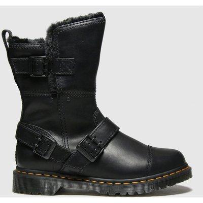 Dr Martens Black Kristy Mid Fur Lined Boots