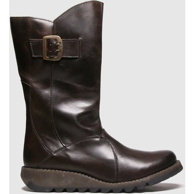 Fly London Dark Brown Mes 3 Boots