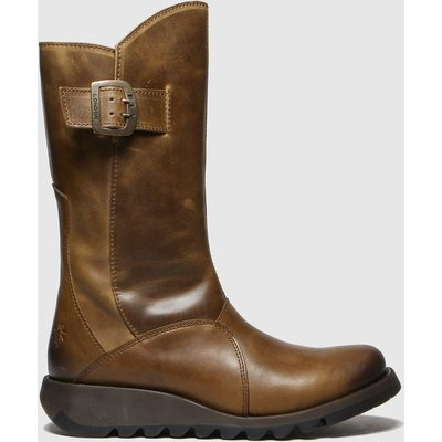 Fly London Tan Mes 3 Boots