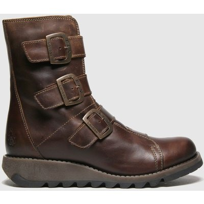 Fly London Dark Brown Scop Boots