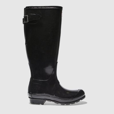 Hunter Black Original Back Adjust Gloss Boots