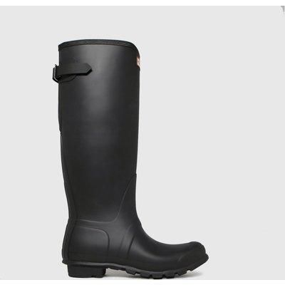 Hunter Black Original Tall Back Adjustable Boots