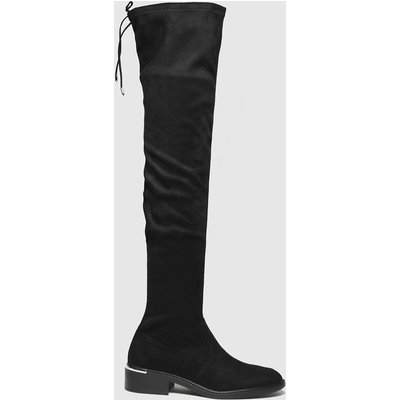Schuh Black Danni Flat Over The Knee Boots