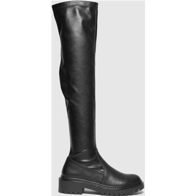 Schuh Black Daisy Over The Knee Boots