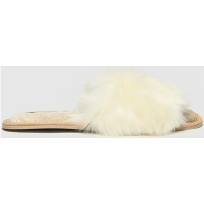 Schuh Natural Hayley Faux Fur Slippers