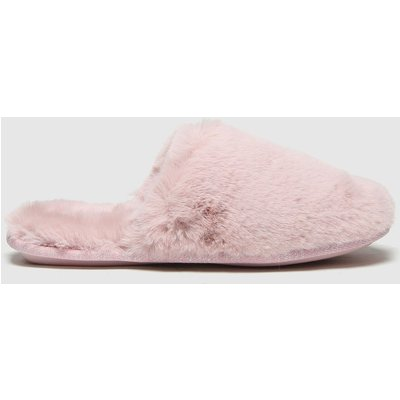 Schuh Pink Holly Faux Fur Mule Slippers