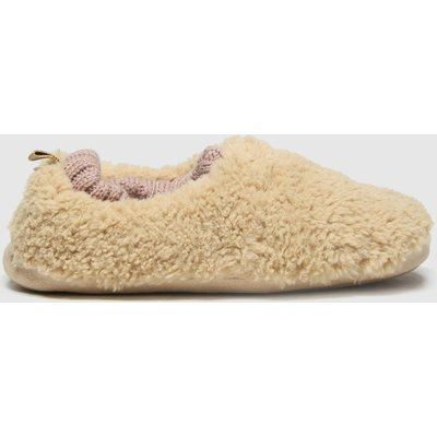 Schuh Beige Halle Faux Fur Slippers