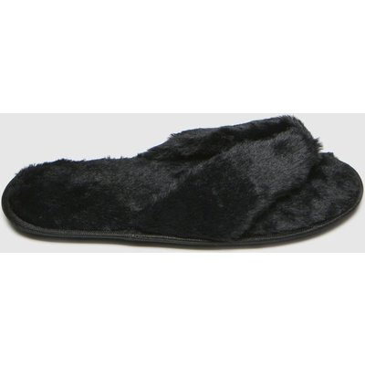Schuh Black Hope Faux Fur Slippers