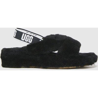 UGG Black Fab Yeah Slide Slippers