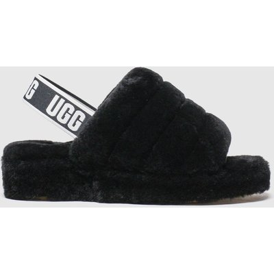 UGG Black Fluff Yeah Slide Slippers