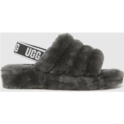 UGG Grey Fluff Yeah Slide Slippers